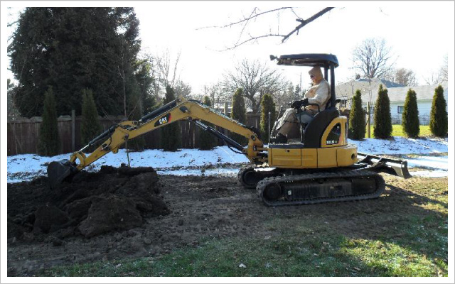 Digging in customer's yard